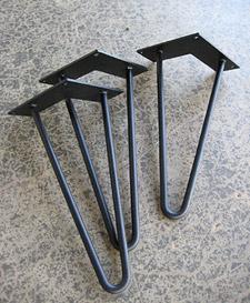 Genial Raw Steel Hairpin Legs